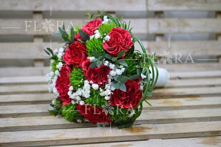 Svatebni Kytice Do Cervene Barvy Flora Online